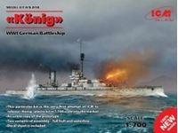 Immagine di 1:700 Konig, WWI German Battleship, full hull and waterline (100% new molds)