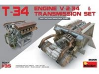 Immagine di 1/35 T-34 Engine V-2-34 & TRANSMISSION SET