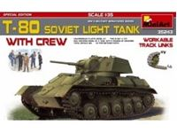 Picture of 1/35 T-80 SOVIET ├┐LIGHT ├┐TANK w/CREW. SPECIAL EDITION├┐include 5 figure