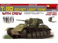 Immagine di 1/35 T-80 SOVIET ├┐LIGHT ├┐TANK w/CREW. SPECIAL EDITION├┐include 5 figure