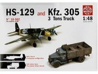 Picture of Comprende 2 Modelli:KFZ.305 3 TONS TRUCK & HS129 HANSCHEL in scala 1/48