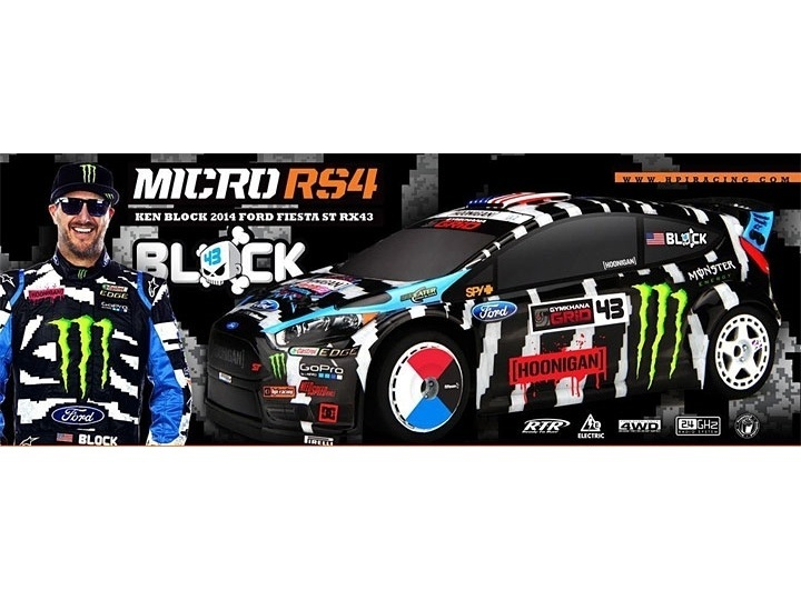 hpi micro rs4 ken block ford fiesta rtr hp111224. Black Bedroom Furniture Sets. Home Design Ideas