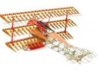 Immagine di 1/16 FOKKER DR.I (The Red Baron''s triplane) +750 pcs New Model with Engraved acrylic base