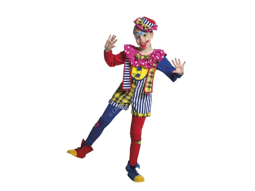 Costume Di Carnevale Pagliaccio Per Bambina Pagliaccetta