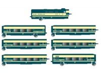 Picture of RENFE, Tren Talgo Pendular, 6-unit base set, original blue/beige livery, ep. IV