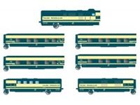 Picture of RENFE, Tren Hotel Talgo, 6-unit base set, original blue/beige livery
