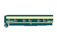 Picture of RENFE, Tren Hotel Talgo, sleeping coach with door on the left side, original blue/beige livery