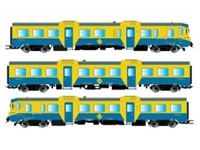 Picture of RENFE, diesel railcar, class 592, blue/yellow livery, with DCC Decoder