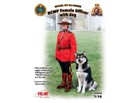 Immagine di 1:16 RCMP Female Officer with dog (100% new molds)