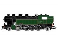 Picture of SNCF, steam locomotive 141 TA 318 in black-green livery, period III