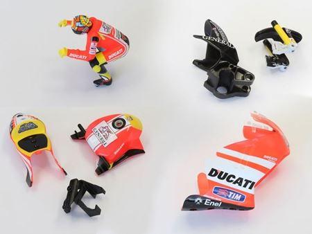 Immagine di PACK CONVERSION DUCATI Mini-Z MOTO RACER (MCB002ADR+BDR+CDR+DDR)