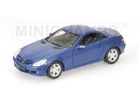 Picture of MINICHAMPS MERCEDES BENZ SLK 2004 BLUE METALLIC 1/18