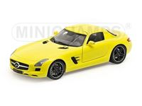 Picture of MINICHAMPS MERCEDES BENZ SLS AMG 2010 YELLOW 1/18