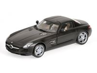 Picture of MINICHAMPS MERCEDES BENZ SLS AMG 2010 MATT BLACK 1/18