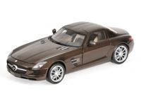 Picture of MINICHAMPS MERCEDES BENZ SLS AMG 2010 BROWN METALLIC 1/18