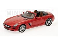 Immagine di MINICHAMPS MERCEDES BENZ SLS AMG ROADSTER 2011 RED METALLIC 1/18