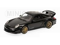 Picture of MINICHAMPS PORSCHE 911 997 II GT2 RS 2011 BLACK WITH GOLD WHEELS 1/18