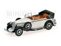 Picture of MINICHAMPS MAYBACH ZEPPELIN 1932 WHITE & BLACK 1/43