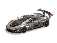 Picture of ALMOST REAL McLAREN P1 GTR CHROME AND GLOSS BLACK 1/43