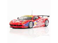 Immagine di TSM MODEL TRUE SCALE MINIATURES FERRARI 458 ITALIA GTE AM #61 TEAM LUXURY RACING 24H LE MANS 2012 FUJIMI 1/43