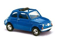 Immagine di BUSCH FIAT 500 BLUE TETTUCCIO APERTO 1/87