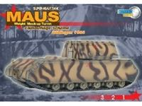 Picture of DRAGON ARMOR MAUS SUPER-HEAVY TANK WEIGHT MOCK-UP TURRET CAMOUFLAGE SCHEME BOBLINGEN 1944 1/72