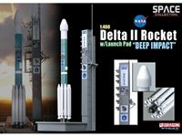 Immagine di DRAGON SPACE COLLECTION DELTA II ROCKET WITH LAUNCH PAD DEEP IMPACT 1/400