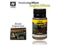 Immagine di VALLEJO WEATHERING EFFECTS BROWN ENGINE SOOT 40 ML