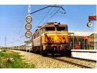 """Immagine di RENFE, electric locomotive 269, """"Estrella"""" livery, 269-219-2, period IV"""