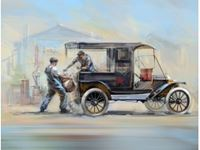 Immagine di 1:24 Gasoline Delivery, Model T 1912 Delivery Car with American Gasoline Loaders