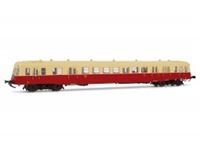 Immagine di SNCF, diesel railcar class X 2400 without smoke deflectors in beige/red livery, X 2450, Depot Marseille, period III, with DCC-sounddecoder
