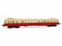Immagine di SNCF, diesel railcar class X 2400 with smoke deflectors in beige/red livery, X 2439, Depot Rouen-Orl?ans, period III, with DCC-sounddecoder