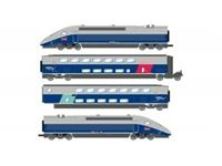 Immagine di SNCF, TGV 2N2 EuroDuplex, 4-unit pack including motorized head, dummy head and two end coaches (1st and 2nd class), period VI, AC digital sound