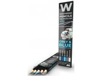 Immagine di WATERCOLOR PENCIL SET GREY AND BLUE CAMOUFLAGES