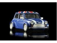 Immagine di MINI COOPER - BLUE UNION JACK - assembled with aluminum chassis - CAMBER system
