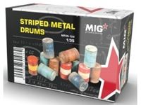 Picture of 1/35 Striped Metal Drums