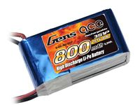 Immagine di Gens ace Pack Soft LiPo 3S-11.1V-800-40C (JST) 62x32x23.5mm 90g