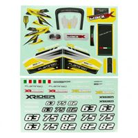 Immagine di Flamingo 1/8  X-Rider Sticker(Yellow)