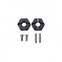 Picture of Flamingo 1/8 X-Rider 6MM Hex. Hub Set(Metal,Black)