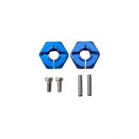 Picture of Flamingo 1/8 X-Rider 6MM Hex. Hub Set(Metal,BLU) Esagono 1/10