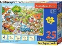 Immagine di CASTORLAND PUZZLES EDUCATION COUNTING ON THE FARM
