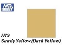 Immagine di Mr.Hobby 	H79 Sandy Yellow (Dark Yellow) Semi-Gloss (10 ml)