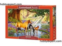 Immagine di N/A PUZZLES HORSES BY THE STREAM 1000 PIECES 68X47 CM