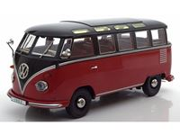 Picture of KK-SCALE VOLKSWAGEN T1 SAMBA 1959 RED BLACK 1/18