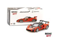 Picture of TSM MODEL TRUE SCALE MINIATURES McLAREN SENNA ORANGE MINI GT 1/64