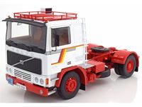 Picture of ROADKINGS VOLVO F12 WHITE & RED 1977 1/18