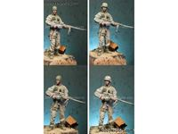 Picture of Alpine Miniatures 1/16 KIT (MAQUETTE) BAR GUNNER US 29TH INFANTRY DEVISION