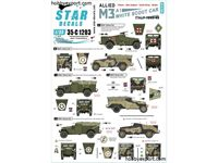 Immagine di 1/35 DECAL (DECAL) Allied M3A1 White Scout Car. Italy 1943 To 1945. Poland, New Zeeland, South Africa And Britain.