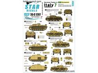 Immagine di 1/35 DECAL (DECAL) German Tanks In Italy No7. Sturmpanzer StuG III Ausf.G, StuG M42 Semovente M42 Da 75 18 And StuG M42 Semovente M42
