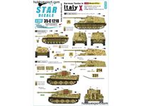 Immagine di 1/35 DECAL (DECAL) German Tanks In Italy No10. Mixed AFVs StuG Sturmgeschutz III Ausf.G, Tiger I Late Production, PzJäger Nashorn